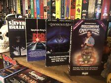 Stephen King VHS POWER PACK 4-Tape Set #2 (Maximum Overdrive, Dead Zone, etc.)