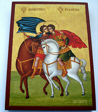 St.Georg mit St.Dimitri Ikone Saint George/Ssaint Dimitri Icon Ikona Icone Icono