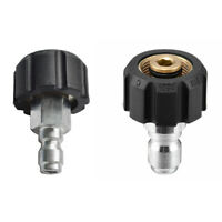 1/4 3/8 Quick Connect Male to M22 14 15 Female Adapter for Pressure Washer
