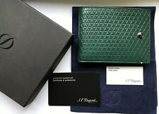 ST Dupont Fire Head Green Soft Diamond Leather Wallet ST180093 - Unused