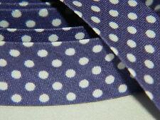 3m Schrägband Nahtband Falzband Einfassband kleine weiße Punkte lila violett