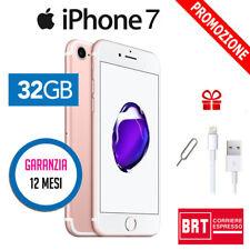 IPHONE 7 32GB ROSE GOLD ORO ROSA USATO RICONDIZIONATO - GARANZIA 12 MESI IT
