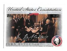2006 Topps United States Constitution John Rutledge