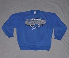 DETROIT LIONS Football Sweatshirt MEN'S LARGE L Blue Crewneck 90s NFL vtg Logo 7