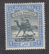 Sudan Sc 14 Mlh. 1898 2p ultra & black Camel Post Rider, F-Vf