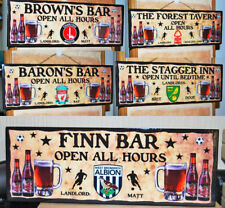 PERSONALISED BAR SIGN GARDEN SHED PUB HOME BAR DAD FOOTBALL CLUB BEER MAN CAVE