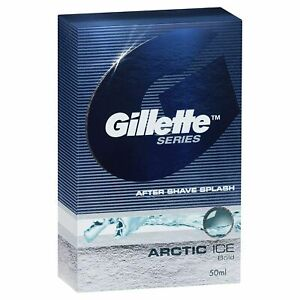 Gillette Series Pack of 1 Arctic Ice After Shave Splash - 50 ml - Free Shipping
