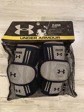 Under Armour Lacrosse Athletic Protective Arm Pads Sz M Blue & Gray Heatgear