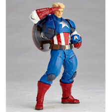 "6""Yamaguchi Revoltech Series Captain America Action Figure Toy No Box"