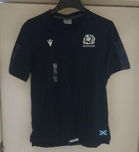 Mens Scotland Rugby T Shirt Size Adults Medium New Tartan Macron