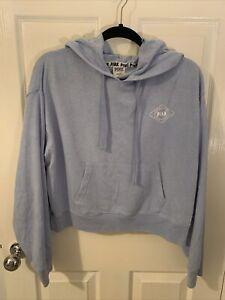 Victoria Secret PINK Blue Hoodie Sweatshirt Size M