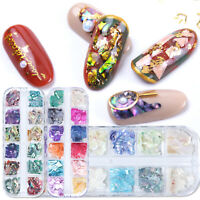 Decor Shell Nail Flakes Irregular Paillette Abalone Slices Mermaid Sequins