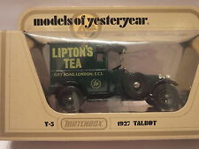 MATCHBOX MODELS OF YESTERYEAR - Y-5 1927 TALBOT - LIPTON'S TEA - SCALE 1:47 #21