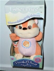 """FISHER PRICE PEACEFUL PLANET CHIPMUNK NATURE SOUNDS 7"""" 1998 CHATTERS WHEN SHAKEN"""