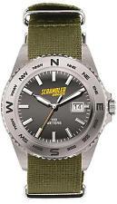 Ducati Scrambler Brushed Quartz Watch Silver & Green 987691869