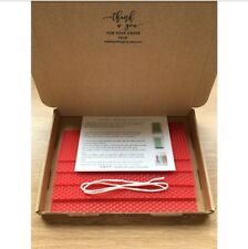 Beeswax Candle Making Kit, Red Beeswax Sheets, Wick, Instructions