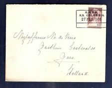 Curacao Ship Cover KNSM 1936 MS COLOMBIA