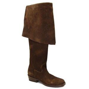 Jack Sparrow Pirate Boots Men 11D Brown Suede gasparilla POTC CABOOTS