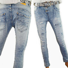 Jewelly by LEXXURY Baggy Jeans Perles glitzersteine Poches Bleu Foncé Nouveau S XL