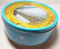 MAERSK LINE Kjeldsens Danish Butter Cookie Tin Can Train Denmark Art Container