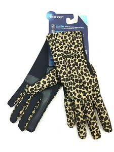 Isotoner Women's Leopard Print Smart Dri Touchscreen Gloves One Size