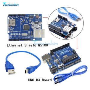 Ethernet Shield W5100 SD Slot Expansion Board+UNO R3 Board  For Arduino