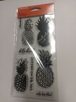 Clear Acrylic Stamp Set by Fiskars Stamps Aloha Pineapple NEW
