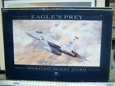 Eagle's Prey USAF F-15C Print Signed by Rick Herter  and Capt Steve Jate  49/300