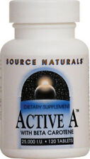 Vitamin A 25000 IU - 120 Tablets, Active with Beta Carotene - Source Naturals