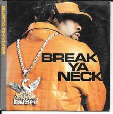 CD SINGLE 2 TITRES--BUSTA RHYMES--BREAK YA NECK--2001