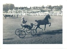 GA80 Original Underwood Photo HARNESS RACING Man in Small Horse Carriage Riding