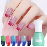 6ml Glitter Shimmer Gel Nail Polish NICOLE DIARY Temperature Color Changing