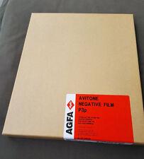 AGFA 10 x 10in sheet film. LF ortho B/W continious tone negative. AVITONE p3p