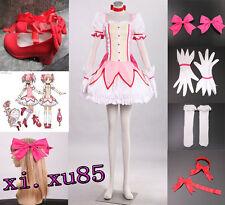 Popular Puella Magi Magica Madoka Kaname Cosplay Costume Full Set Custom Made