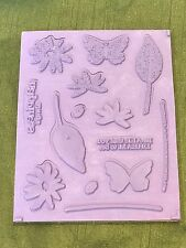 Happiness Always, Stamping Up! Set of 14 Rubber Stamps, Flower/Leaf/Butterfly