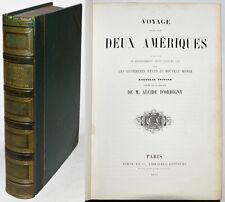 VOYAGE DANS LES DEUX AMERIQUES, d'ORBIGNY, Furne & Cie 1853 Gravures cartes
