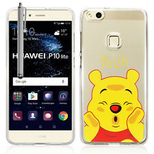 """Coque Housse Silicone TPU Ultra-Fine Winnie the Pooh Huawei P10 Lite 5.2"""" Stylet"""