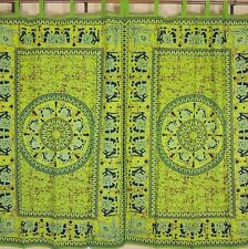 Antique Look Elephant Curtains Green Stylish Window Treatments Interior Design