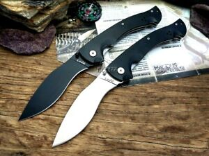 "Mini Kukri Folding Knife Pocket Hunting Survival Tactical Combat Carbon Steel 4"""