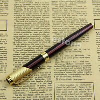 New Fountain Pen Jinhao 9009 Fine Nib Claret and Golden Writing Instruments