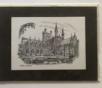 """Chester Cathedral Print (matted) by Brian Lewis 6"""" X 7.5"""""""