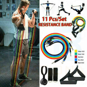 Sport Pull Rope Fitness Elastic Gum Bands Rubber Expander Workout Band 11pcs