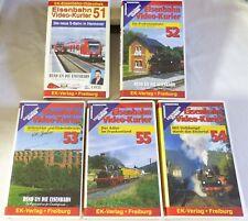 """VHS ferrocarril video-mensajero - 5 gastos"""" 51-55"""" - contenido ver fotos-Top-en su embalaje original"""