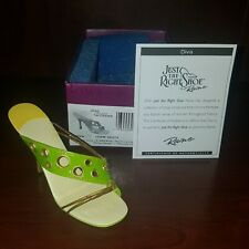 Just The Right Shoe # 25474. Diva. 2004. Miniature shoe. Nib, Coa