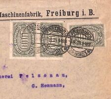 UU243 Germany INFLATION FRANKING 1923 *Freiburg* 3000m Rate Cover PTS