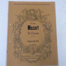 cello/bass MOZART Te Deum KV 141, Breitkopf & Haertel