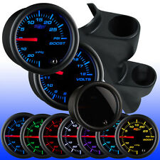 99 - 05 Volkswagen VW Jetta Dual Gauge Pod 52mm w. 2 Tinted 7 Gauges Package