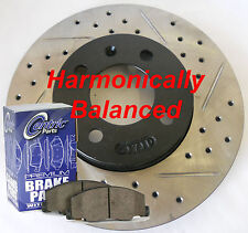 Fits 12-15 Accent Drilled Slotted Rotors Ceramic Pads Harmonically Balanced Frnt