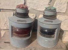 Belle Paire de lanternes, fanaux électrifiées /lampe marine loft bar INDUSTRIEL
