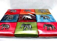 "9pcs. SILK BOX GIFT THAI CRAFT For Birthday Wedding Packagings. (4""x3""x1"")"